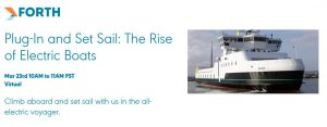 Forth Webinar: Plug-In and Set Sail: The Rise of Electric Boats
